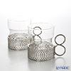 Iittala Tsaikka Glass with Stainless Holder - Set of 2