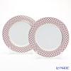 Imperial Porcelain Blues Pink Net Plate 10.6