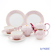 Imperial Porcelain Blues Pink Net 7 pcs set for 2