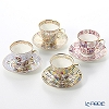Imperial Porcelain / Lomonosov 'Assorted' Demitasse Coffee Cup & Saucer 80ml (set of 4 patterns)