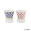 Imperial Porcelain / Lomonosov 'Cobalt Net & Red Net' Mini Cup 40ml (set of 2 colors)