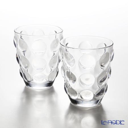 イタレッセ ガラスタンブラー ボッレクリア 340cc ガラス製 ペア