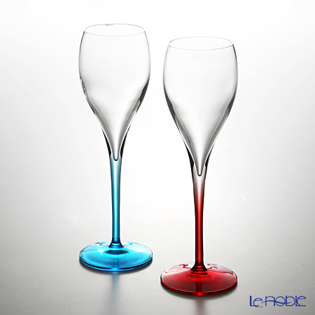 イタレッセ プリヴェ Color Proレッド&ブルー 150cc ガラス製 ペア