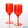 Italesse 'Vertical Beach' Red [Polycarbonate] Wine Glass 330ml (set of 2)