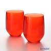 Italesse 'Vertical Party Beach' Red [Polycarbonate] Tumbler 420ml (set of 2)