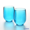 Italesse 'Vertical Party Beach' Blue [Polycarbonate] Tumbler 420ml (set of 2)