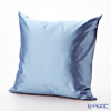 Thompson Cushion cover silk Light blue plain cushion Magzine