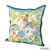 Jim Thompson 'Lovebird' Mint Green 70002G Ruffled Silk Cushion Cover (with Cushion) 46x46cm