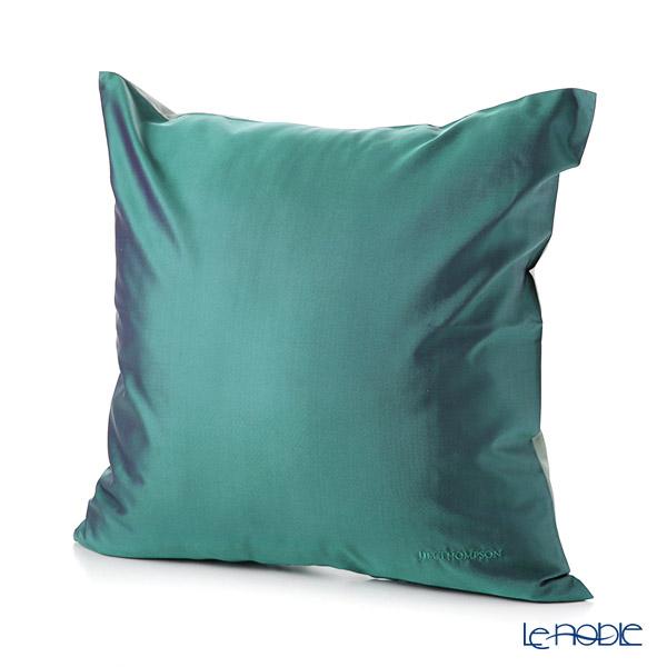 ジムトンプソン クッションカバー シルク無地 ブルーグリーン 45×45cm【クッション付】
