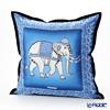 Thompson Cushion cover silk ruffle 70006A Zouceremony black / blue cushion Magzine