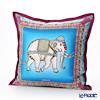 Thompson Cushion cover silk ruffle 70006D Zouceremony purple / sky blue cushion Magzine
