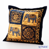 Thompson Cushion cover cotton ruffle 2249579E Elephant 2 blue 4 square cushion Magzine