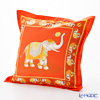 Thompson Cushion cover cotton ruffle 2249650C Elephant ball play Orange cushion Magzine
