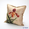 Jim Thompson 'Cattleya Flower' Beige 1160209C Ruffled Silk Cushion Cover (with Cushion) 46x46cm