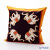 Thompson Cushion cover silk ruffle 1169722 Elephant 4/orange/grey cushion Magzine