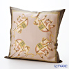 Thompson Cushion cover silk ruffle 1169722D Elephant 4 / olive brown cushion Magzine