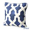 Thompson Cushion cover 2121 / 01 T Blue and white 45 x 45 cushion Magzine