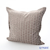 Jim Thompson 'Honeycomb' Light Brown 3546/13T Ruffled Cushion Cover (with Cushion) 50x50cm