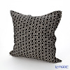 Jim Thompson 'Honeycomb' Black 3546/16T Ruffled Cushion Cover (with Cushion) 50x50cm
