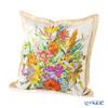 Jim Thompson 'Summer Flower Bouquet' Beige Ruffled Silk Cushion Cover (with Cushion) 46x46cm