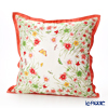 Thompson 'Meadows Flower & Butterfly' Orange frame 70007A Ruffled Silk Cushion Cover (with Cushion) 46x46cm