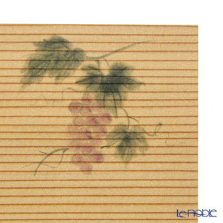 Takano Chikko / Cedar Craft 'Grape (Fruit)' Square Flat Plate 10x10cm (set of 5)