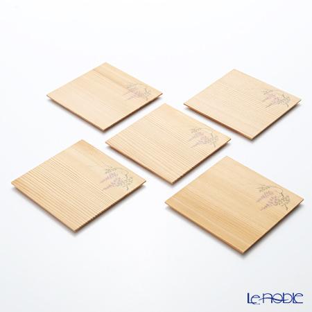 高野竹工 杉小皿 藤 5枚セット 116-07