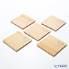 Takano Chikko / Cedar Craft 'Westeria Flower' Square Flat Plate 10x10cm (set of 5)