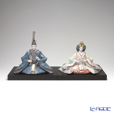 Lladro 'Hina Dolls / Girls' Day Japan' 08049 & 08050 Emperor & Empress Figurine (set of 2)