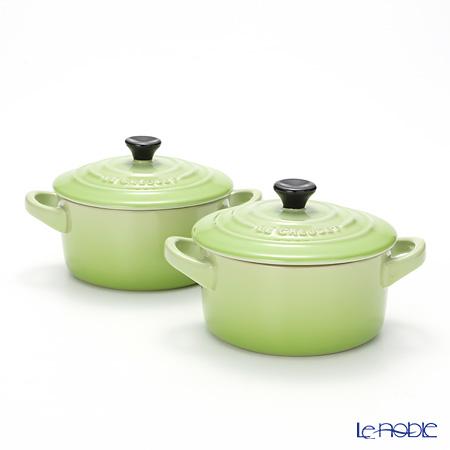 Le Creuset (LeCreuset) minicocott (stoneware) 10 cm fruit green pair brand box magzine.