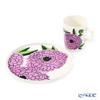 Marimekko 'Primavera - Spring' Lilac Mug, Plate (set of 2 for 1 person)