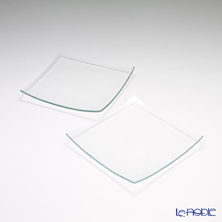 Modern Bohemia 'Classic' Extra Clear Square Plate 20x20cm (set of 2)