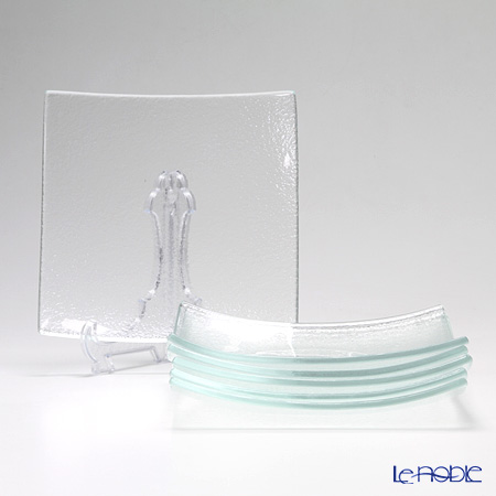 Modern Bohemia 'Classic' Extra Clear Square Plate 20x20cm (set of 6)