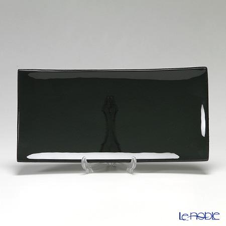 Modern Bohemia 'Classic' Black Rectangular Plate 32x16cm (set of 2)