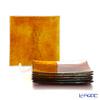 Modern Bohemia 'Snail' Topaz Yellow Square Plate 14.5x14.5cm (set of 6)