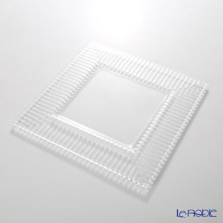Modern Bohemia 'Kubis' Extra Clear Square Plate 27.5x27.5cm (set of 2)