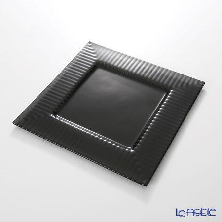 Modern Bohemian Cubs square plate 27.5 x 27.5 cm black pair