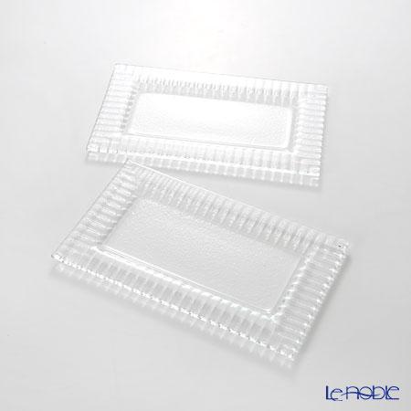 Modern Bohemia 'Kubis' Extra Clear Rectangular Plate 21.5x13cm (set of 2)