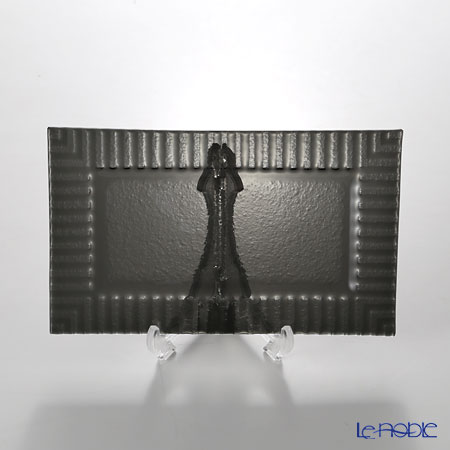Modern Bohemia 'Kubis' Black Rectangular Plate 21.5x13cm (set of 2)