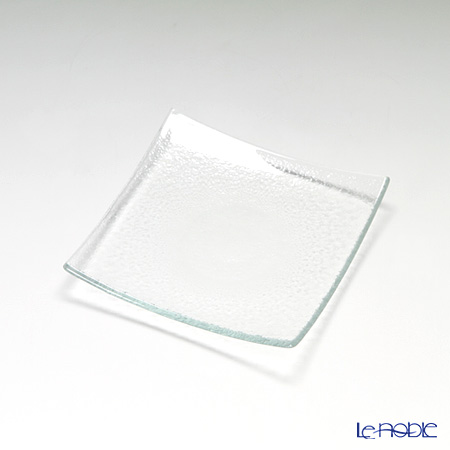 Modern Bohemia square plate Extra clear set of 4 16 x 16 cm