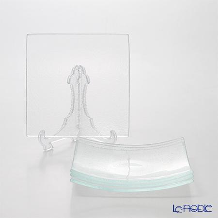 モダンボヘミア スクエアプレートエクストラクリア 20×20cm 4枚セット
