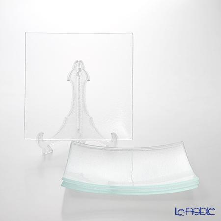 モダンボヘミア スクエアプレートエクストラクリア 26×26cm 4枚セット