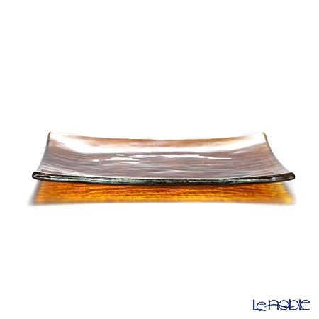 Modern Bohemian snail square plate Topaz 14.5 x 14.5 cm 4 Pack