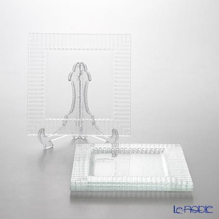 モダンボヘミア クビス スクエアプレートエクストラクリア 19.5×19.5cm 4枚セット