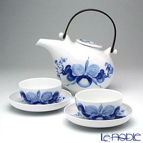 マイセン(Meissen) ブルーオーキッド2人用 日本茶セット