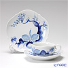 Meissen 'Blue Orchid' Tea Cup & Saucer, Plate (set of 2 for 1 person)