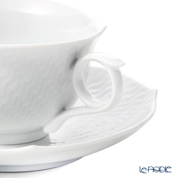 マイセン(Meissen) 波の戯れホワイト 000001/29633ティーカップ&ソーサー 170cc ペア