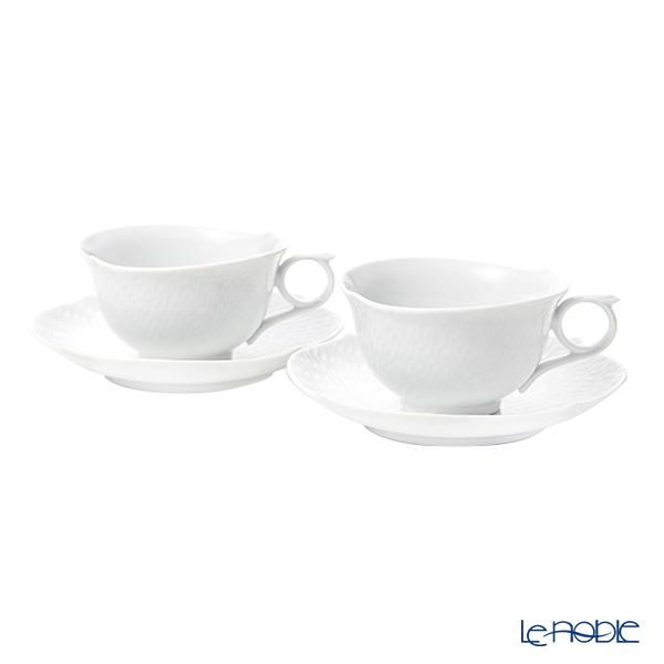マイセン(Meissen) 波の戯れホワイト 000001/29633 ティーカップ&ソーサー 170cc ペア