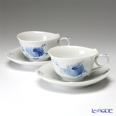 マイセン(Meissen) 青い花 614701/28633 ティーカップ&ソーサー 170cc ペア