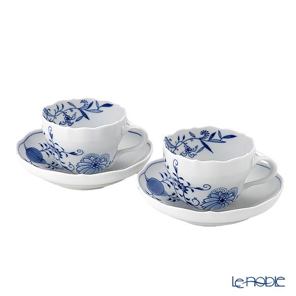 マイセン(Meissen) ブルーオニオン スタイル 801001/00582 コーヒーカップ&ソーサー 200cc ペア